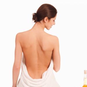 Limpeza de pele das costas
